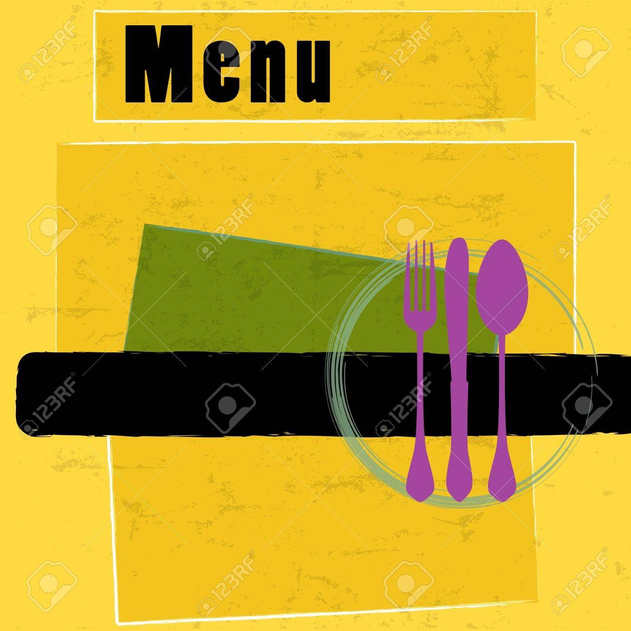 Menú Del Restaurante Tarjeta De Diseño De La Plantilla, Copia ...