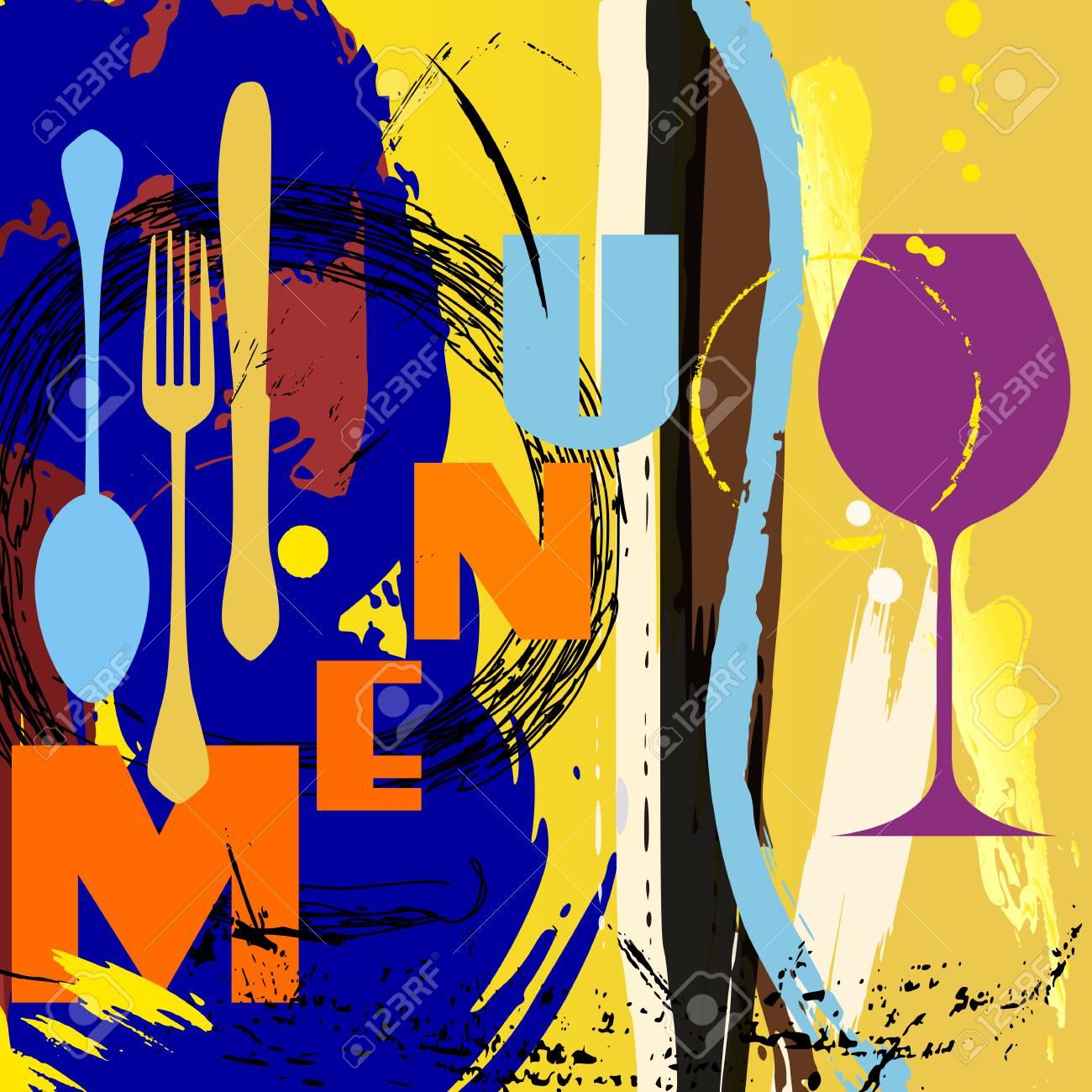 Tarjeta Del Menú Para El Restaurante De Diseño De La Plantilla ...