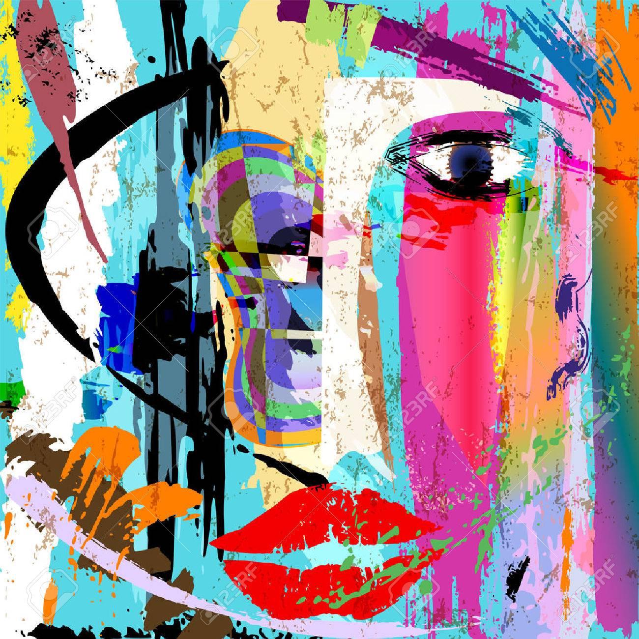 Composition De Fond Abstrait, Avec Des Coups