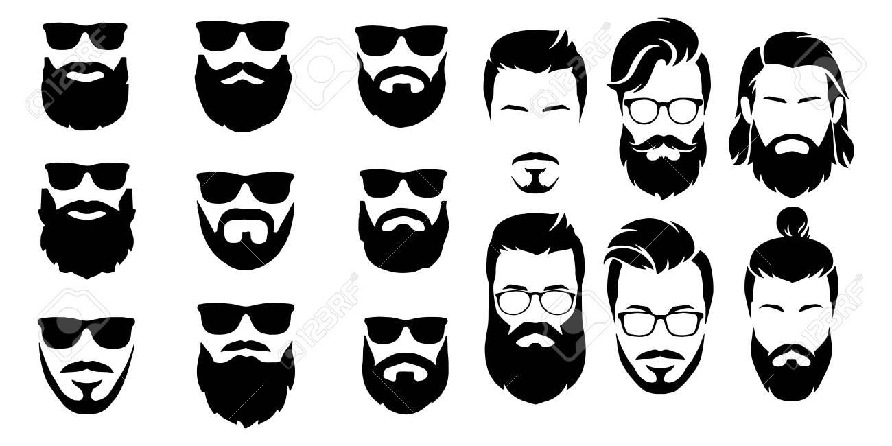 bearded icon set Vector illustration white background - 151739289