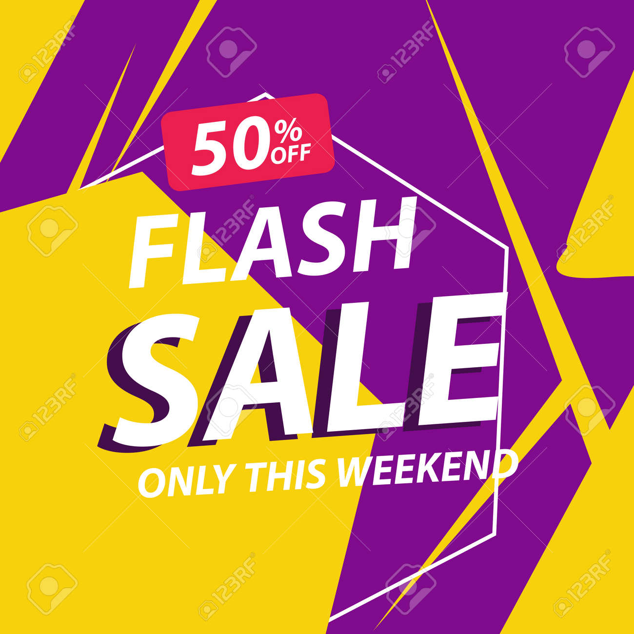 Flash sale discount banner template promotion - 151739055