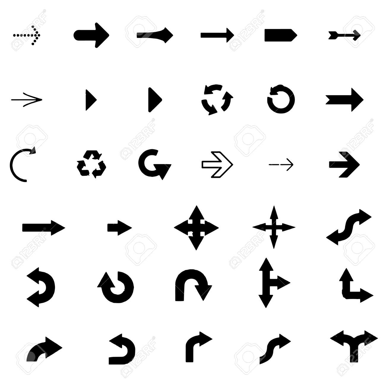 Arrows vector collection on a white background - 152029252