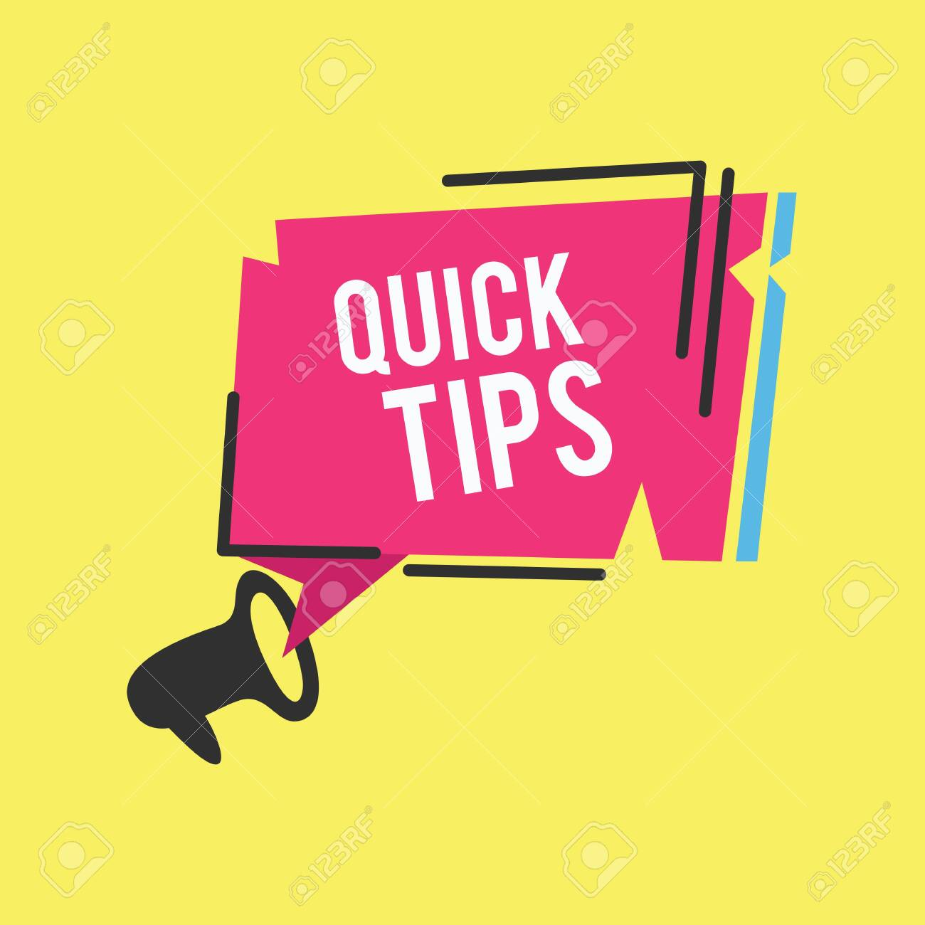 Quick Tips Modern Helpful Tips Banner Vector Illustration Royalty Free Cliparts Vectors And Stock Illustration Image 152125733