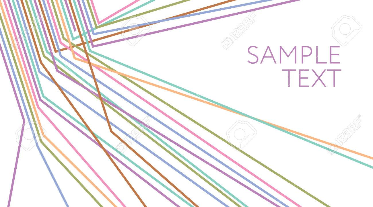 Multicolored Lines Abstract Background. Electric Wire. Vector ...