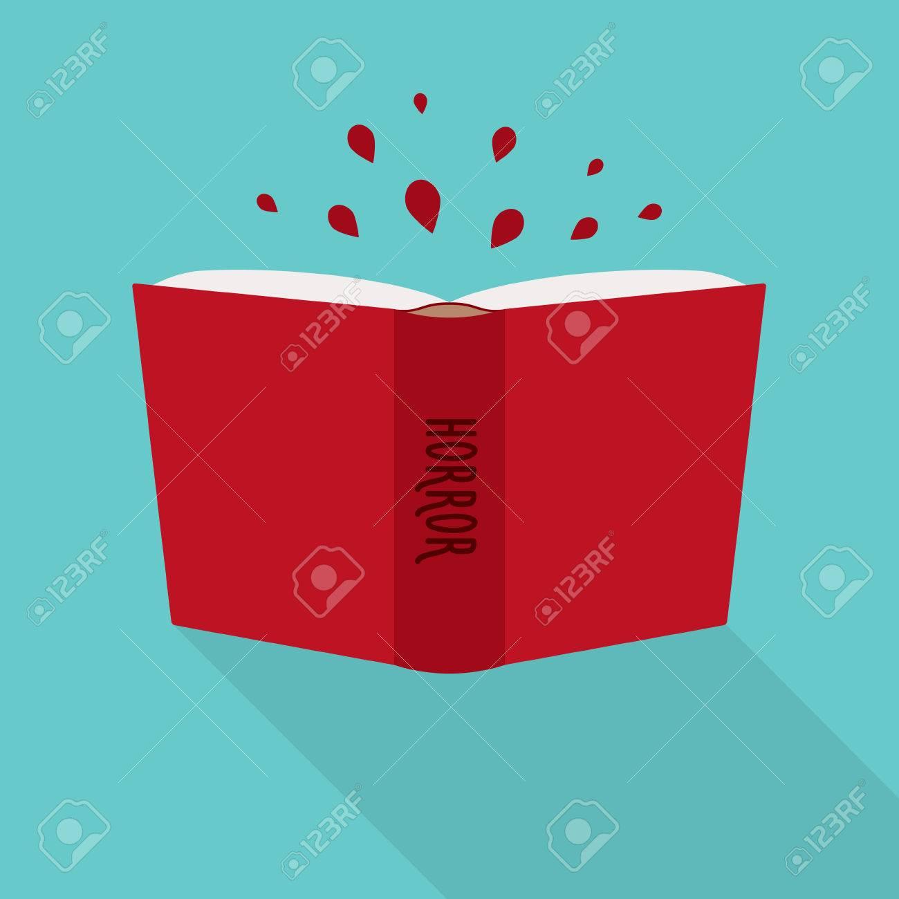 Ouvrez L Icone De Livre Concept D Horreur Genre De La Fiction Litteraire
