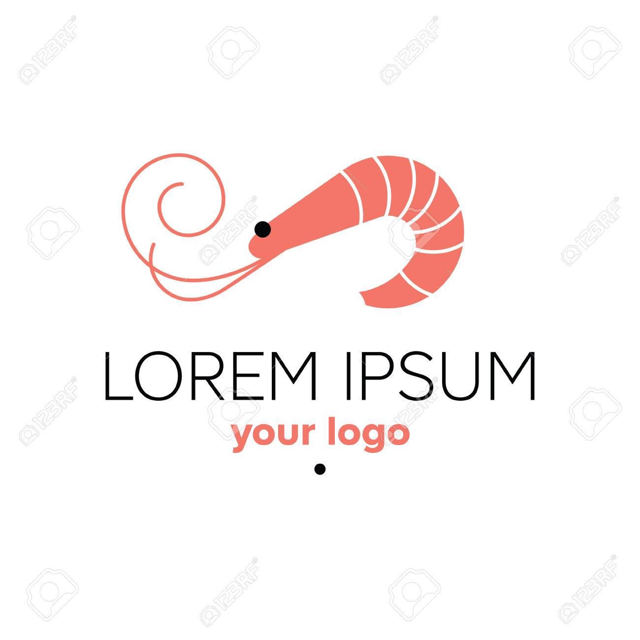 Shrimp Logo Template. Seafood Restaurant Sign. Prawn Stock Photo ...