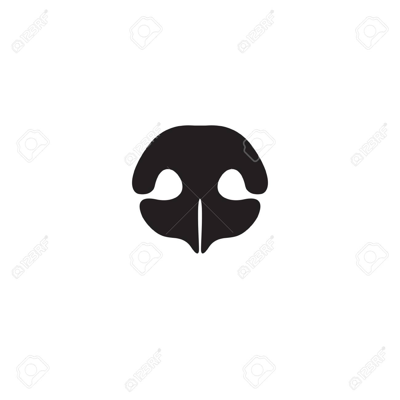 Dog's nose icon. Element of logo for pet shop, vet clinic, dog products or services. Vector Illustration - 71090544