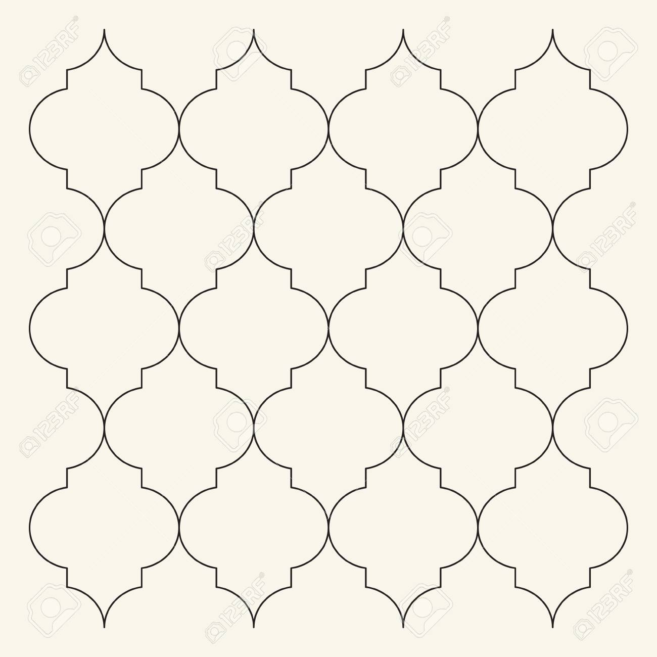 Nice Moroccan Pattern Template Pictures >> Flat Outline Moroccan ...