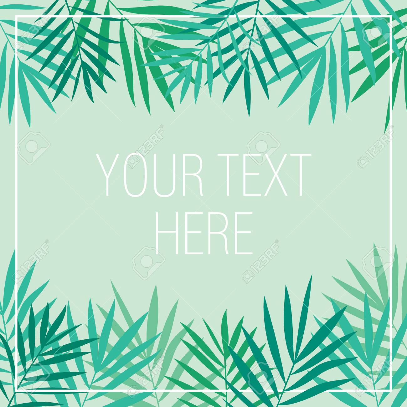 Tropical Background With Palm Leaves Banner Poster Invitation Stock Photo Picture And Royalty Free Image Image 86787184 Find & download free graphic resources for tropical leaves. tropical background with palm leaves banner poster invitation