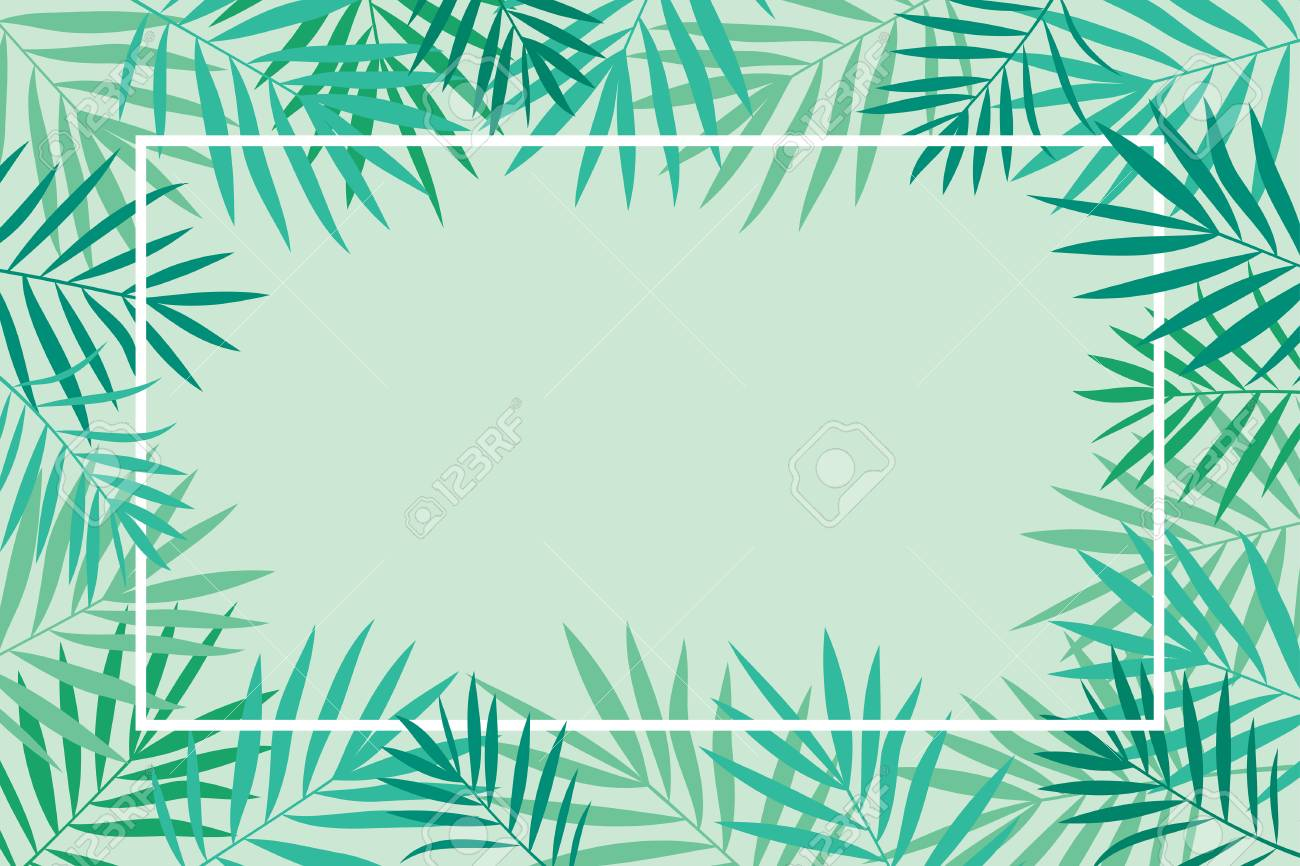 Tropical Palm Leaves Background With Frame Banner Poster Invitation Stock Photo Picture And Royalty Free Image Image 86787187 Place for your text or photo. tropical palm leaves background with frame banner poster invitation