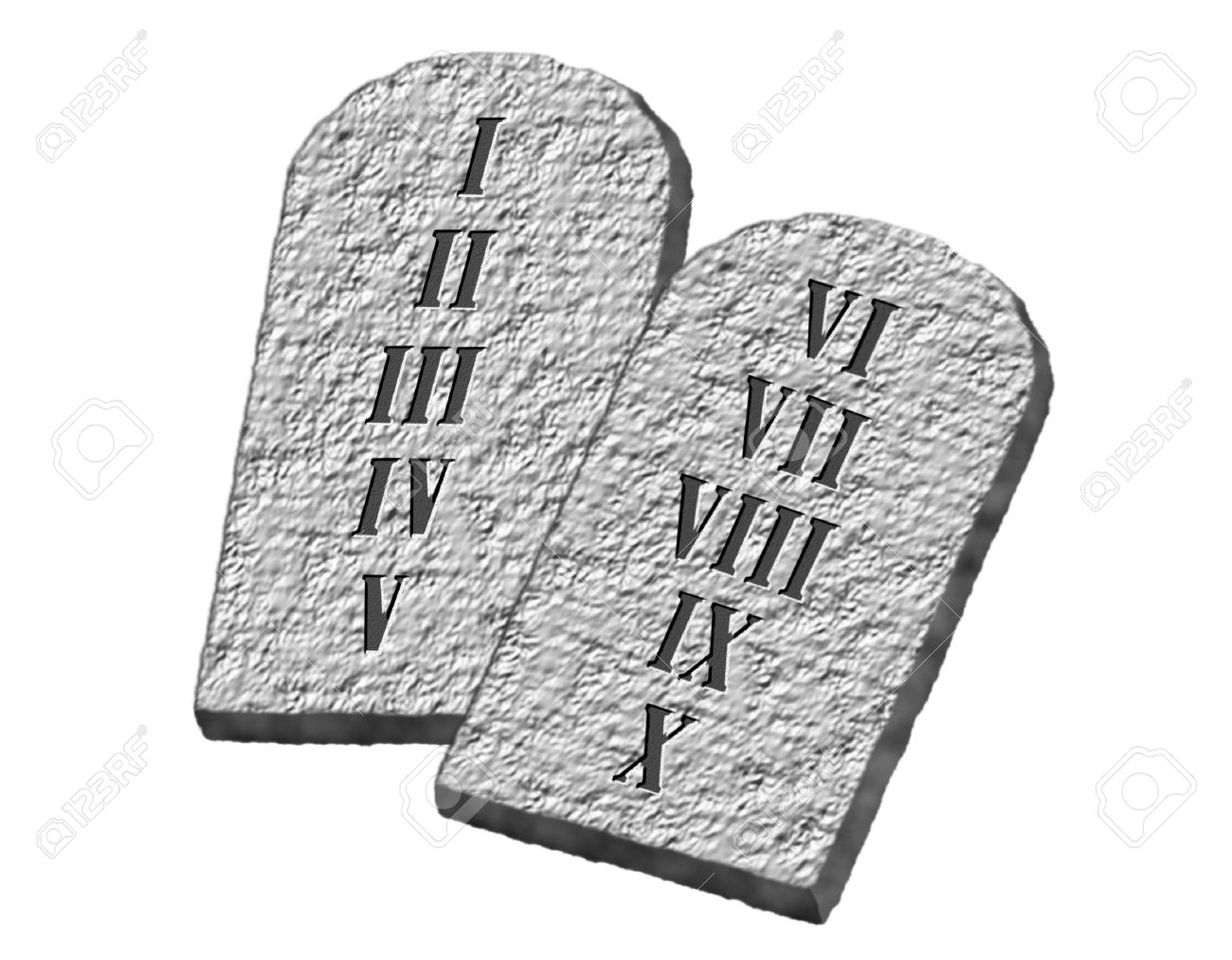 The Ten Commandments Of Moses Written On Stone Tablets Stock Photo Picture And Royalty Free Image Image 5909930