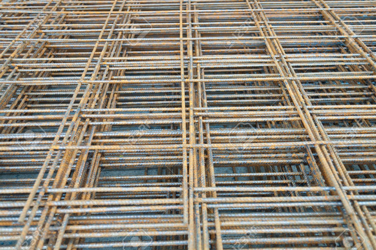 Steel rods or bars Stacked For Construction Stock Photo - 14743910