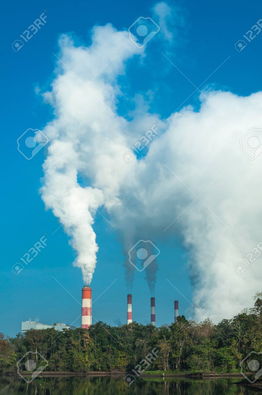 Mae Moh coal power plant in Lampang, Thailand. Stock Photo - 17358519