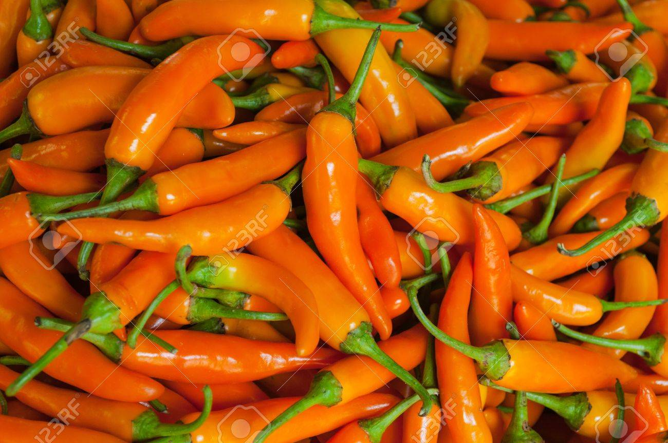 Spicy yellow peppers, used as an ingredient in food. Stock Photo - 19281168