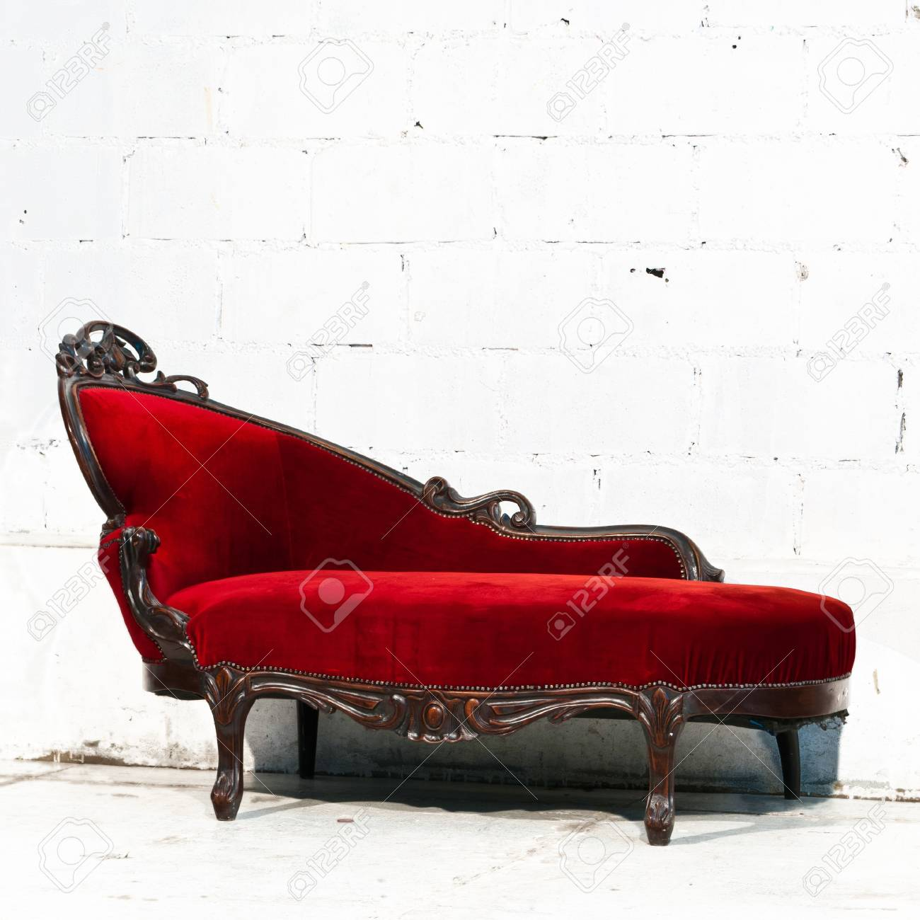 Modern red sofa contemporary and classic style.