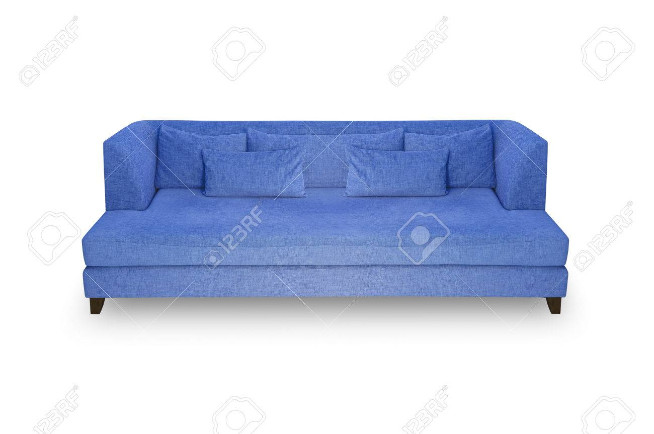 Prime Blue Sofa Pillow And Leaning Back On A White Background Ocoug Best Dining Table And Chair Ideas Images Ocougorg