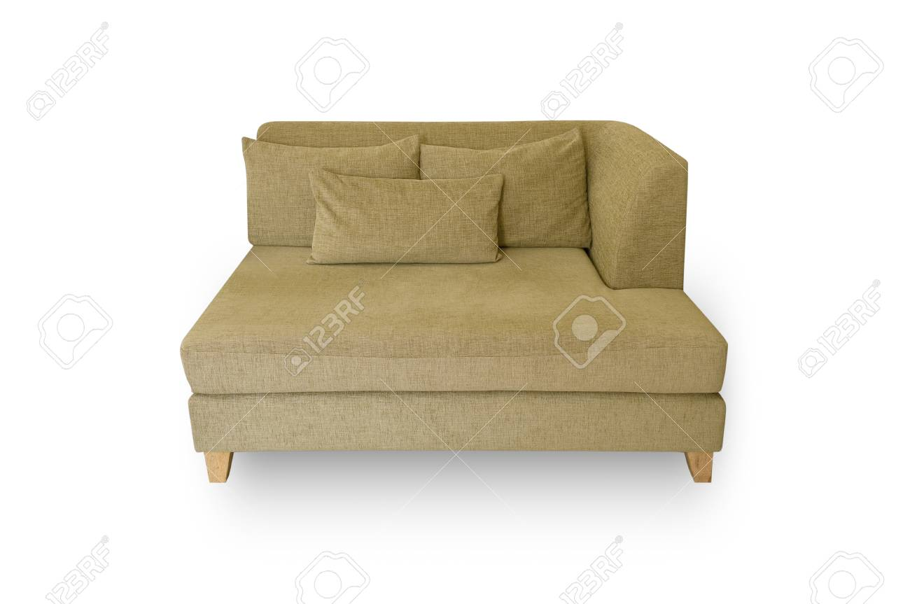 Strange Creamy Yellow Sofa Pillow And Leaning Back On A White Background Ocoug Best Dining Table And Chair Ideas Images Ocougorg