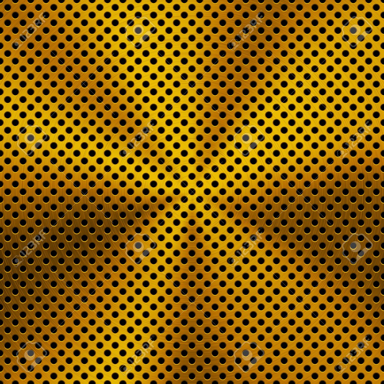 Gold metal background with seamless realistic circular brushed