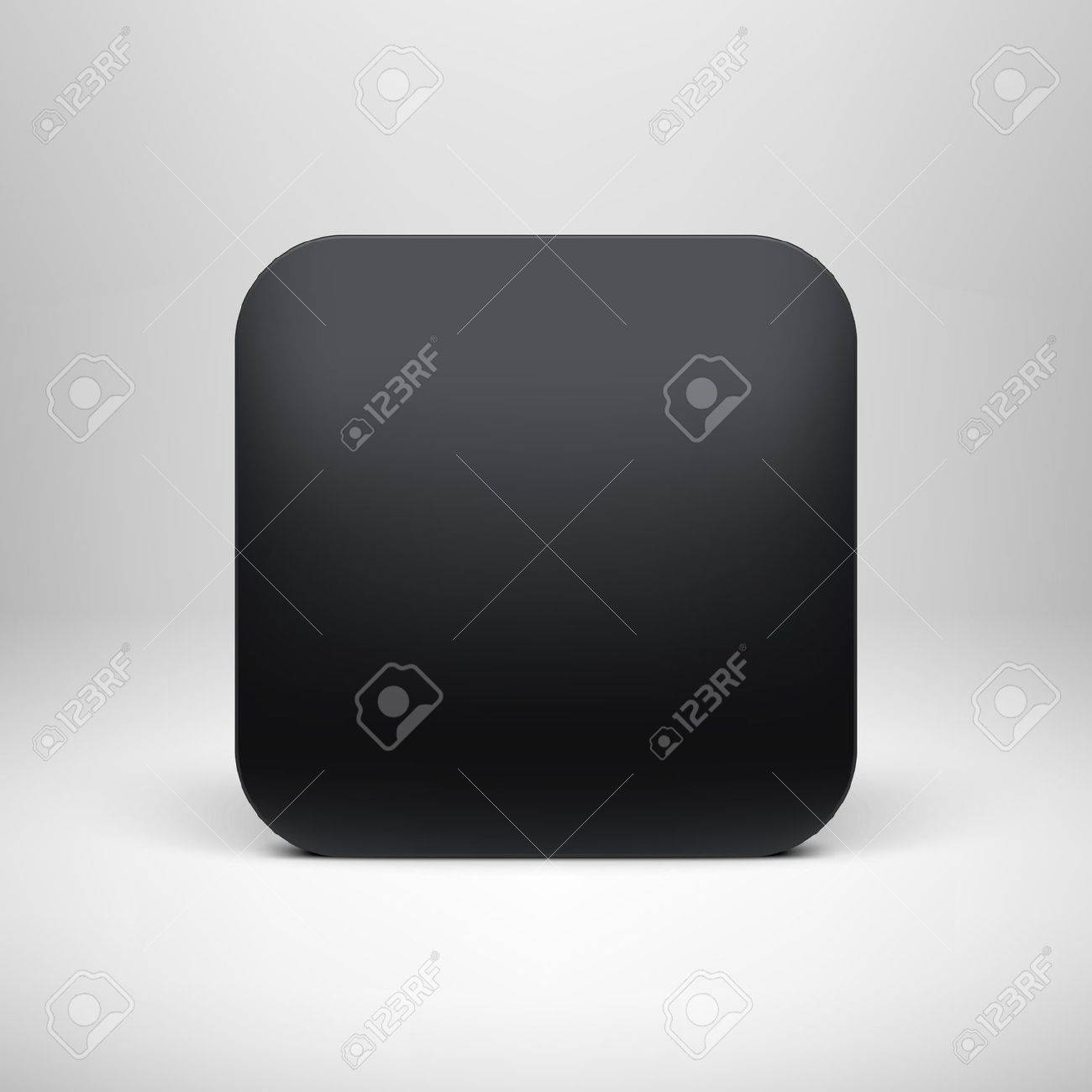 Technology black blank app icon  button  template with realistic shadow and light background for internet sites, web user interfaces  ui  and applications  app   Vector design illustration Stock Vector - 19290058
