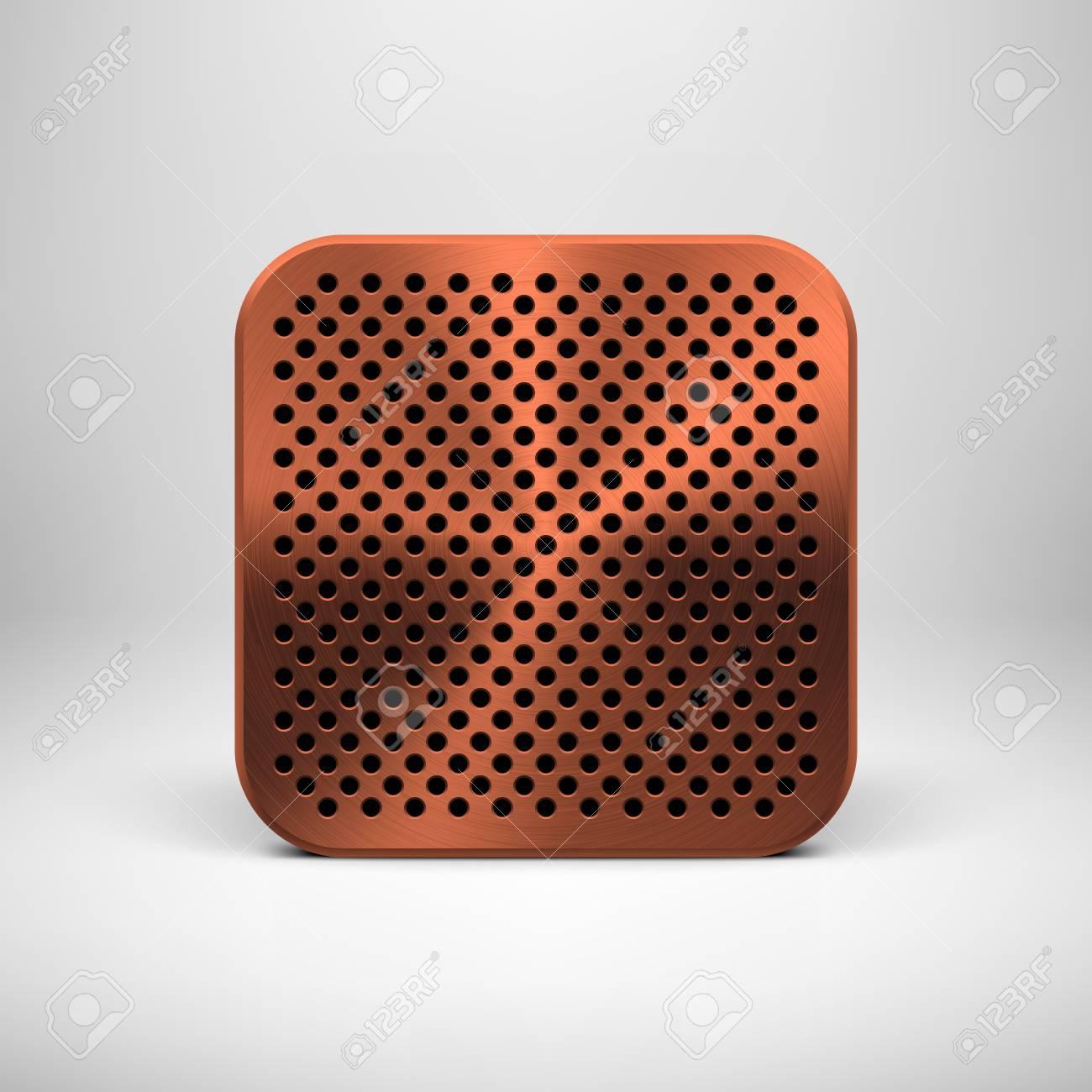 Technologie App-Symbol (Schaltfläche) Vorlage Mit Lochkreis ...