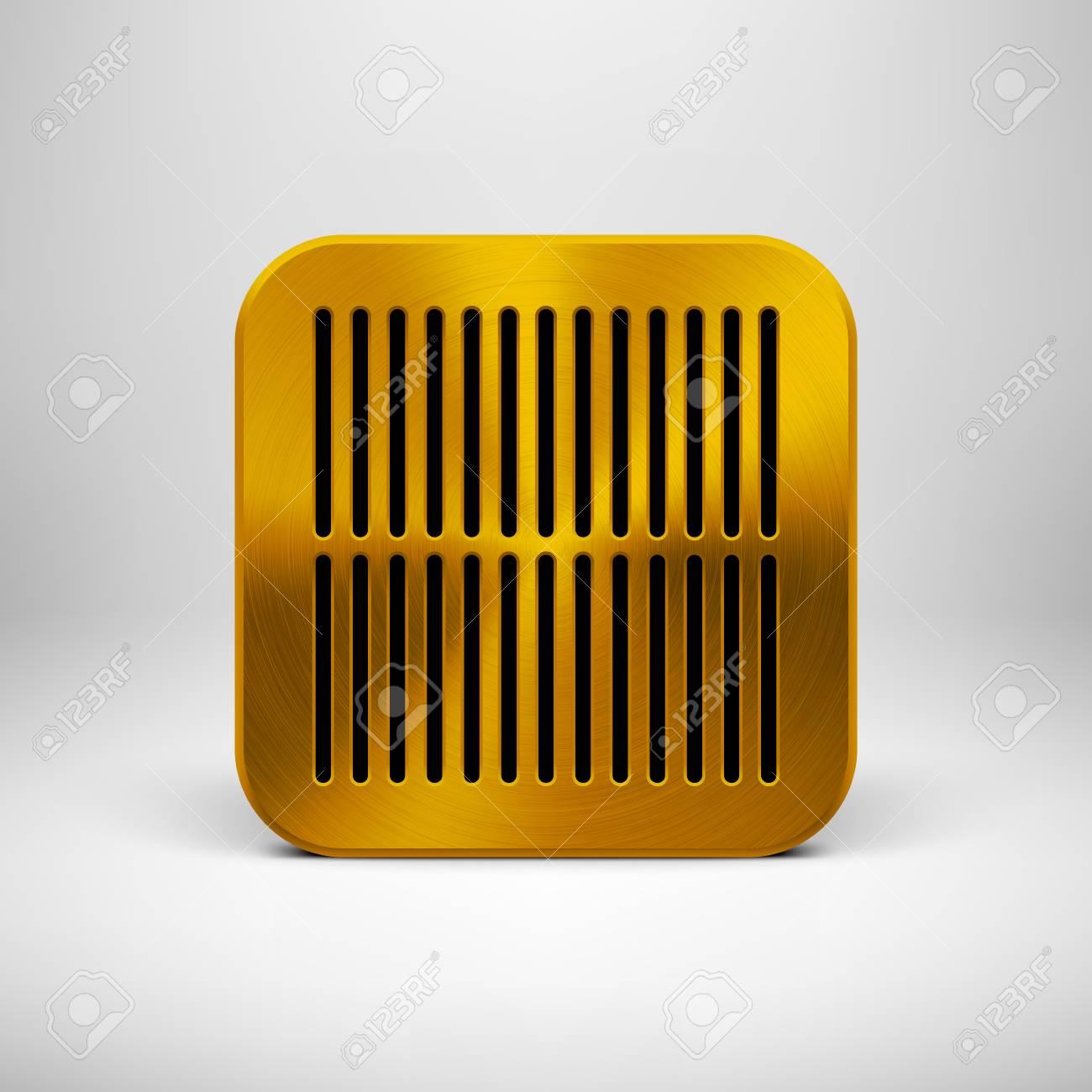 Technologie App-Symbol (Schaltfläche) Leere Vorlage Mit Lochkreis ...