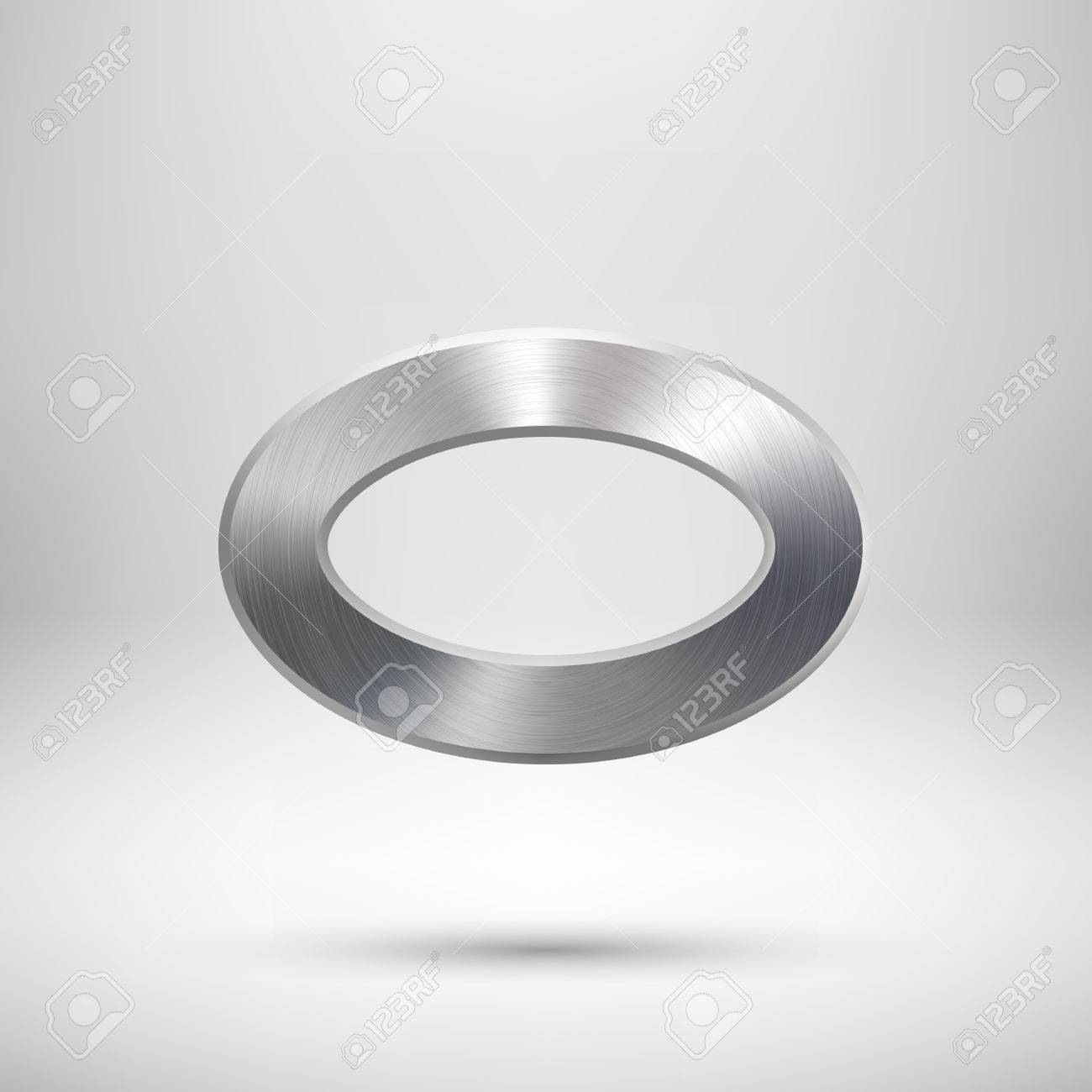 Abstract Donut, Technology Ellipse, Oval Ring Badge, Blank Button ...