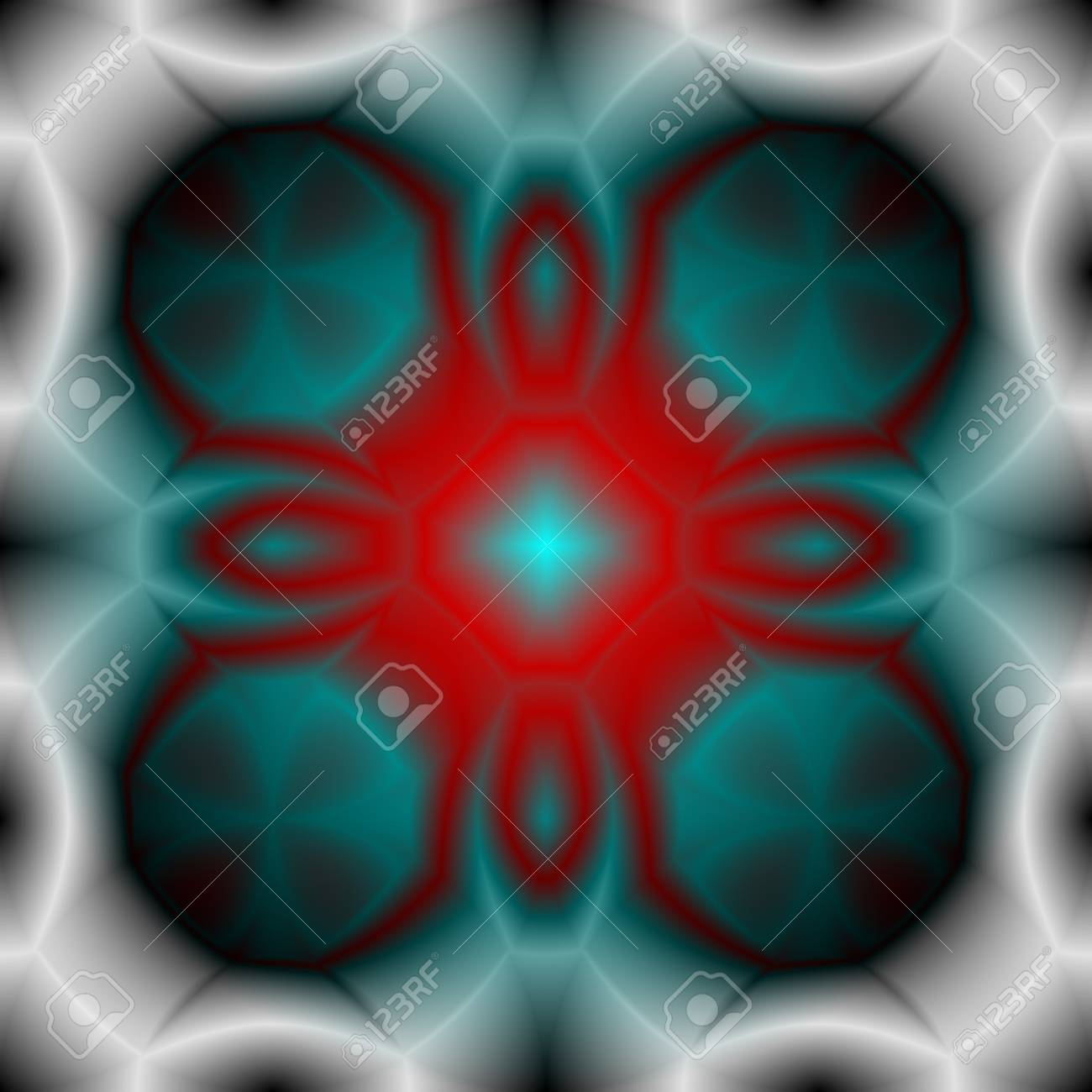 フラクタルと輝き デザインの概念 ポスター バナー Web プレゼンテーション 壁紙 印刷 白の抽象的な技術の背景 未来の宇宙船のアートワーク ベクトルの図 のイラスト素材 ベクタ Image