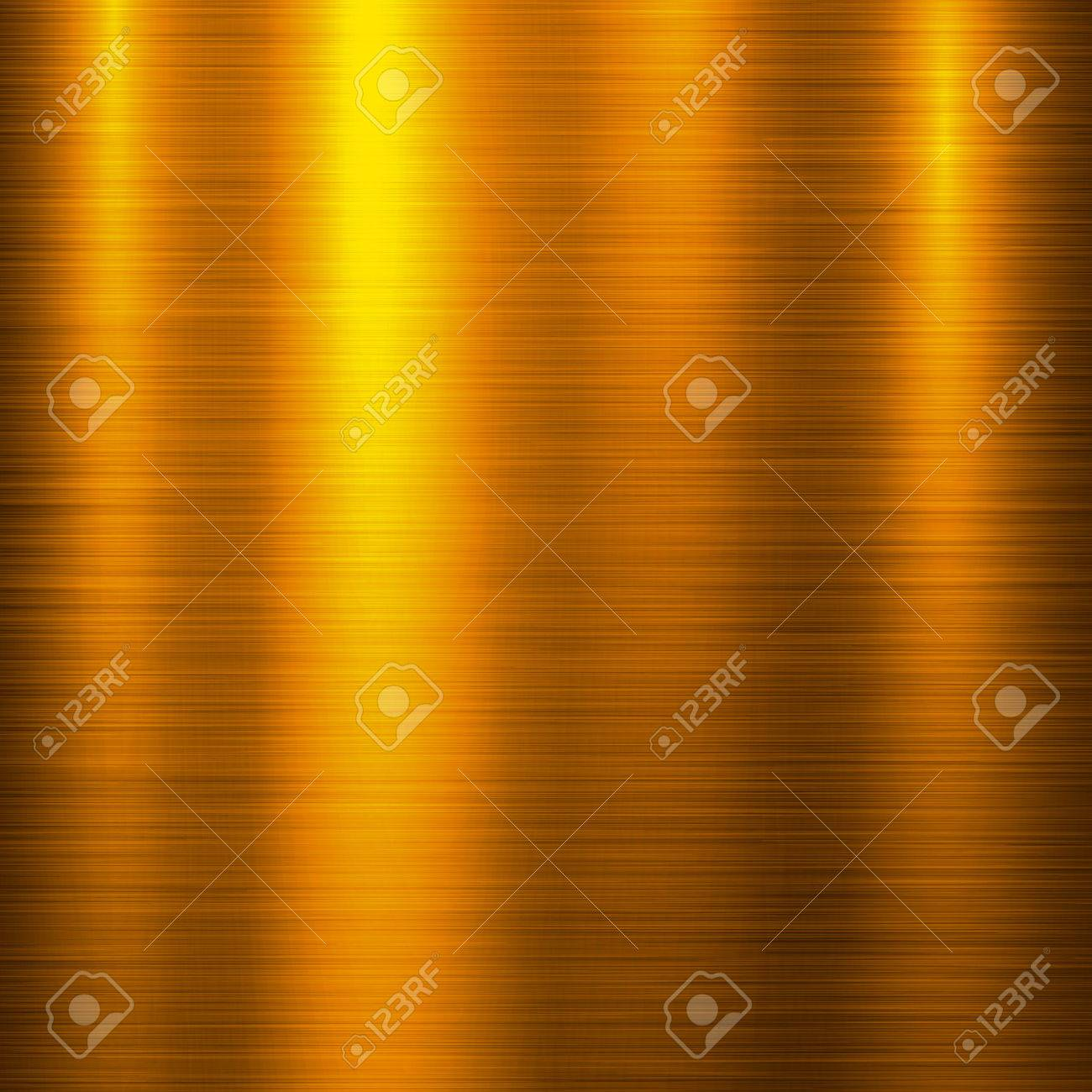 Gold metal technology background with polished, brushed metal