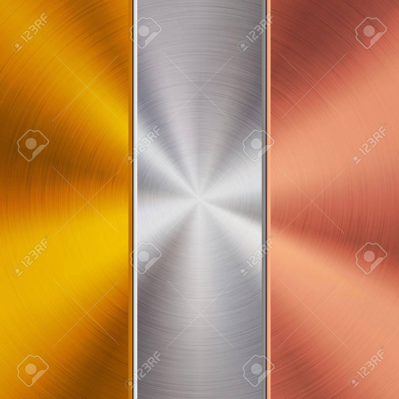 Metal gold, chrome and bronze technology background with polished,