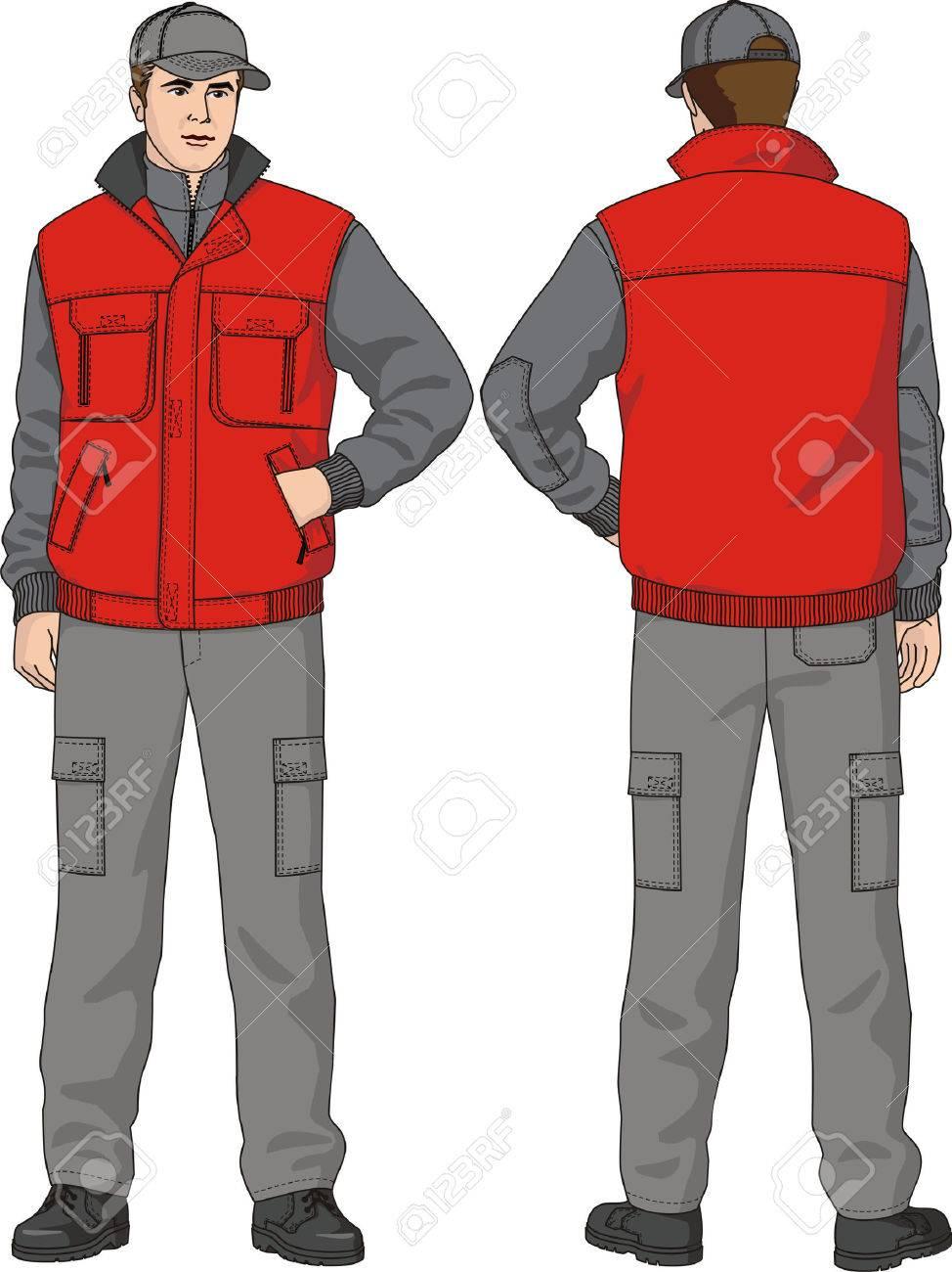 Waistcoat man's warmed with pockets. - 5555803