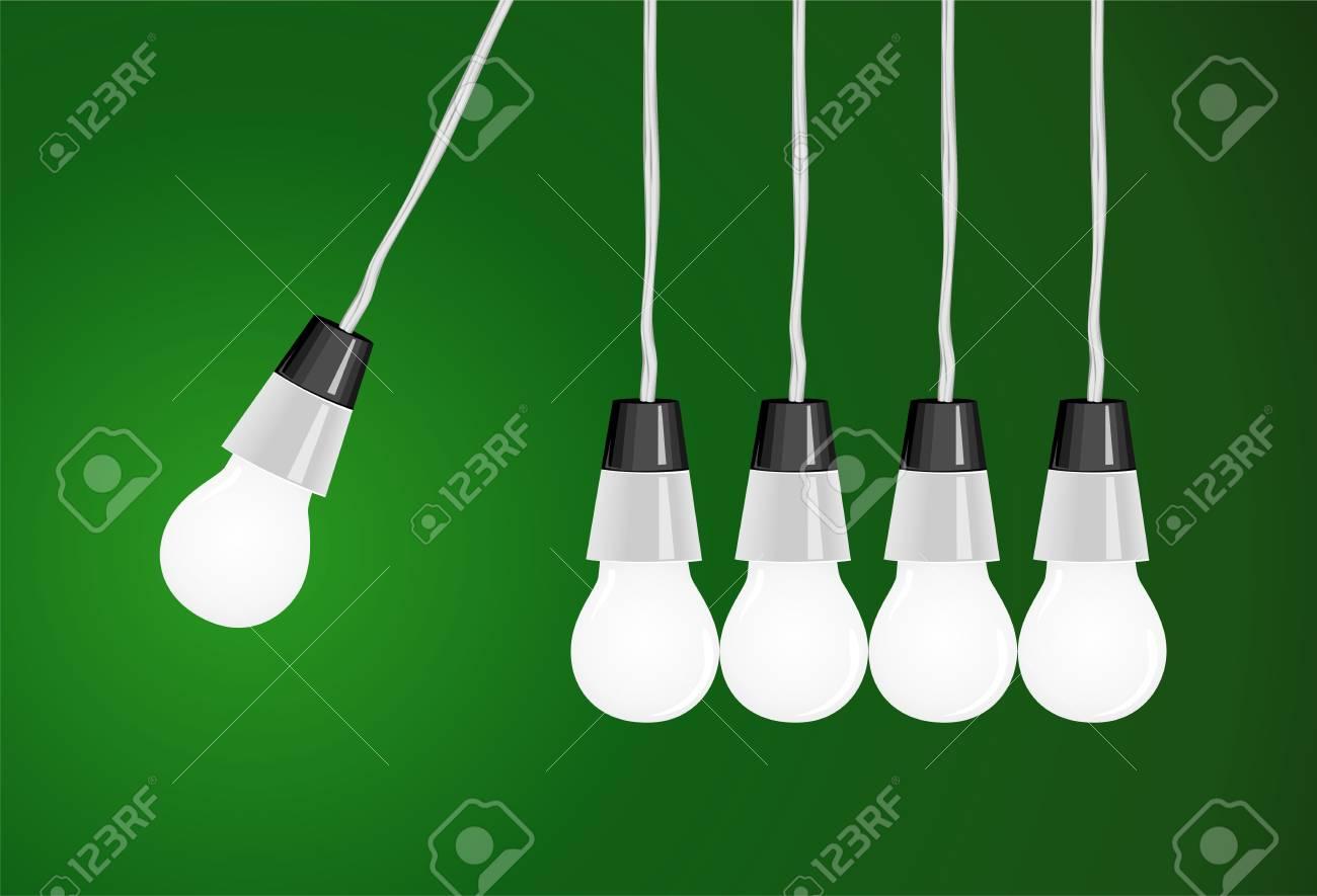 The pendulum consists of round bulbs Stock Vector - 5555801