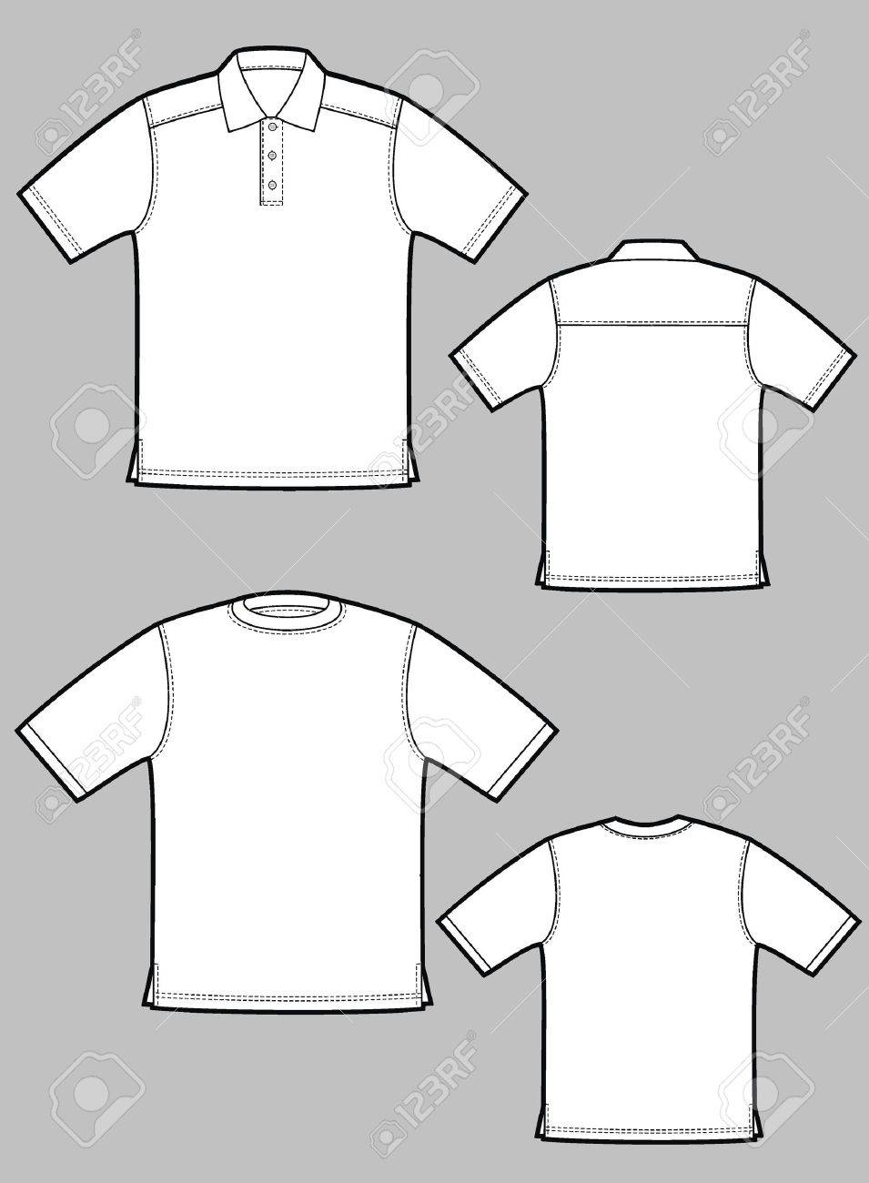 Two kinds of T-shirts with short sleeves Stock Vector - 6217448