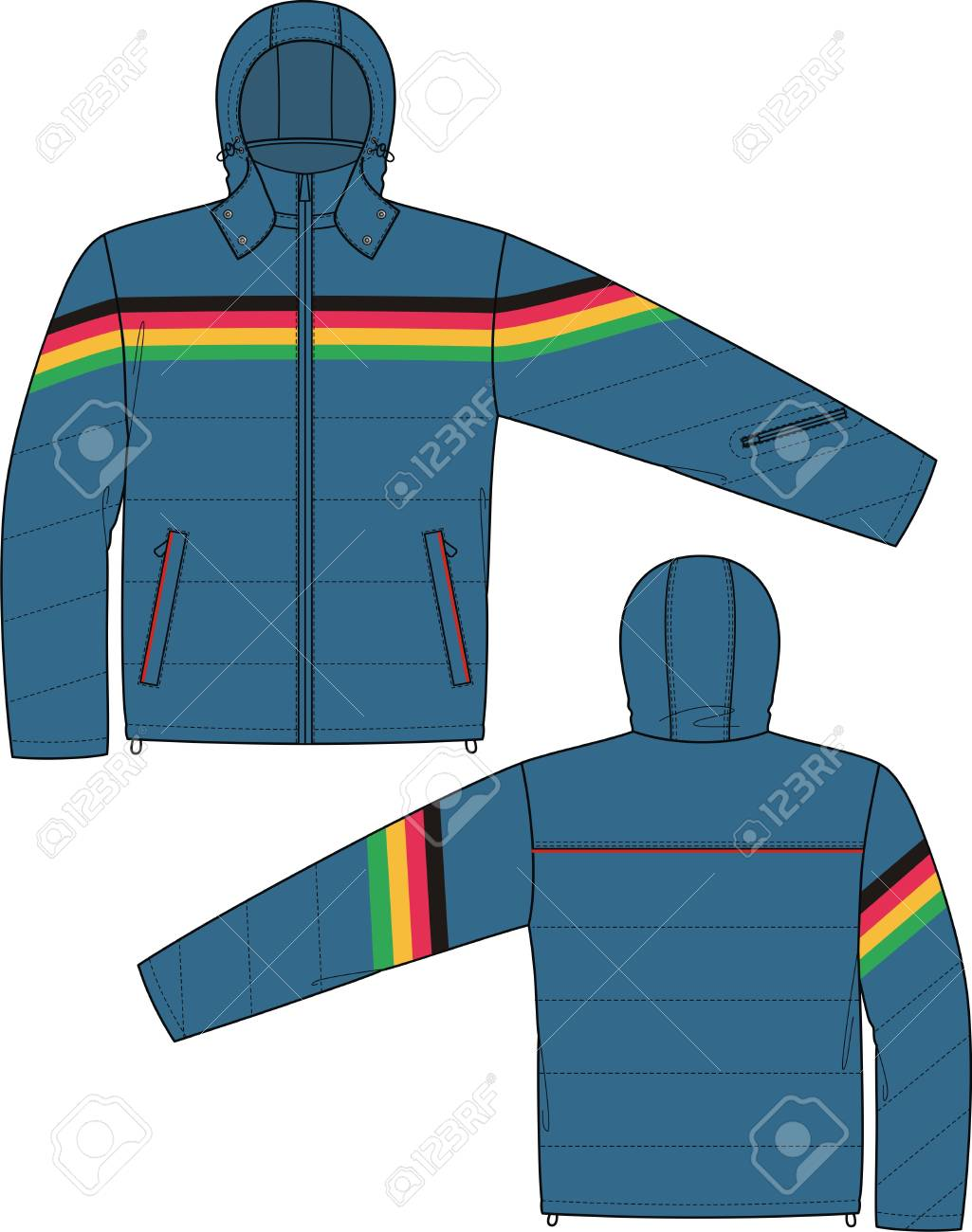Jacket sports with a long sleeve and pockets Stock Vector - 8931845