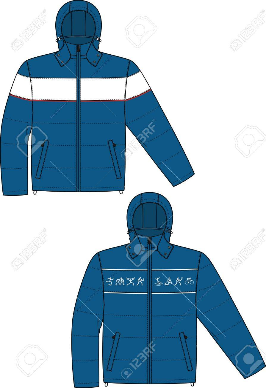 Jacket sports with a long sleeve and pockets Stock Vector - 8931862