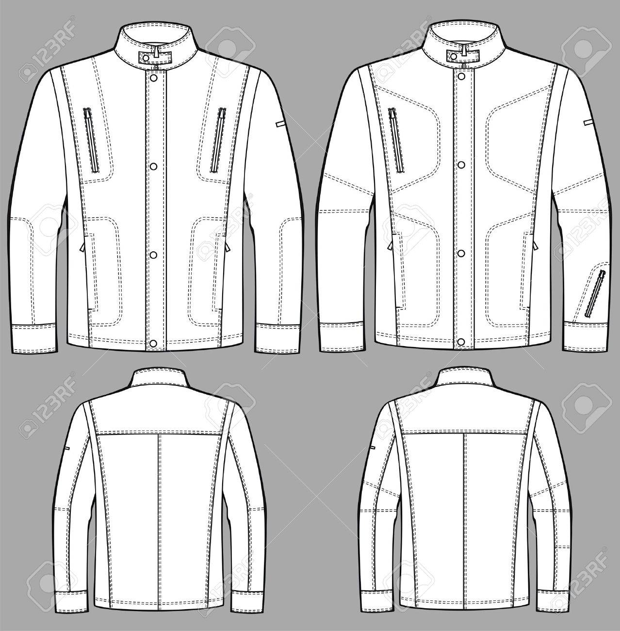 Jacket for man with a long sleeve and pockets Stock Vector - 9087935