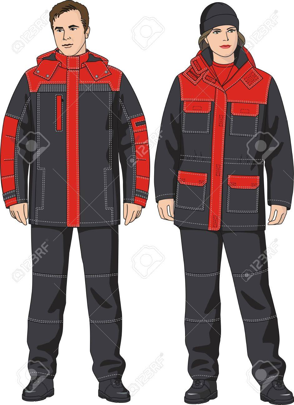 Jacket warmed with multipurpose pockets for men and women Stock Vector - 11770778