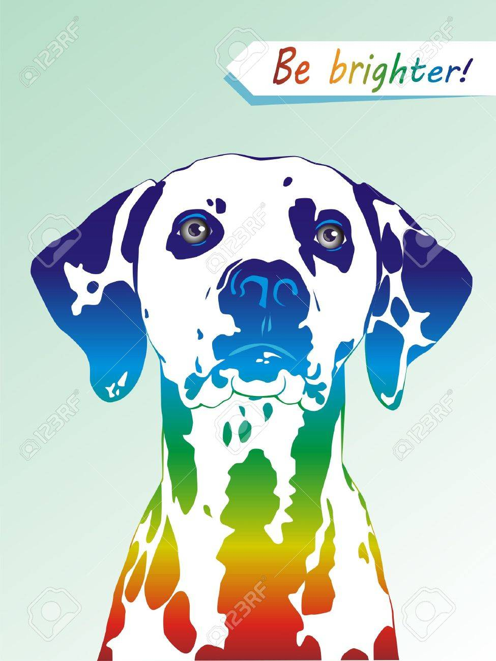 Dog a dalmatian with multi-colored spots Stock Vector - 13168497