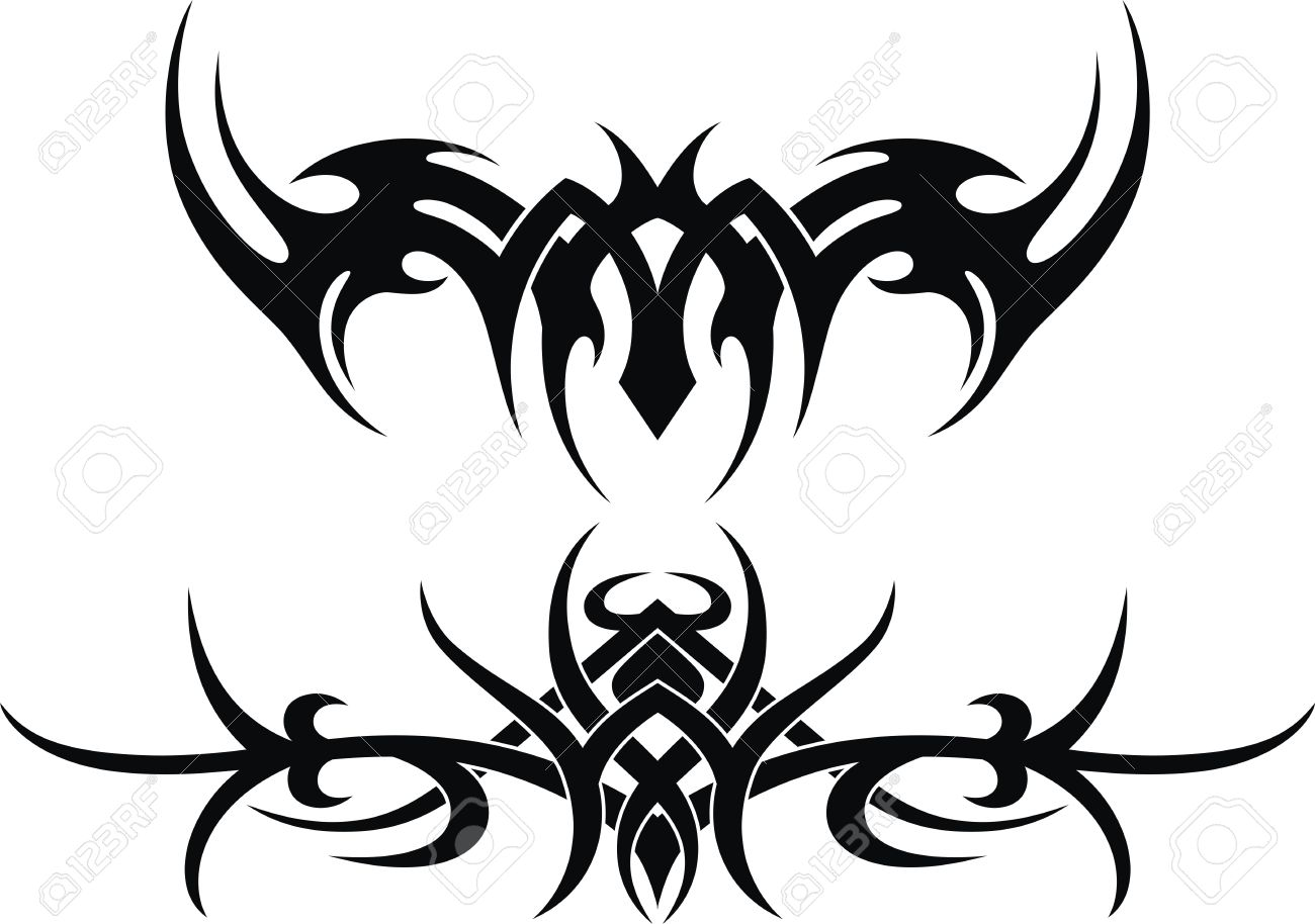 The stylized pattern in the form of a tattoo Stock Vector - 13168539