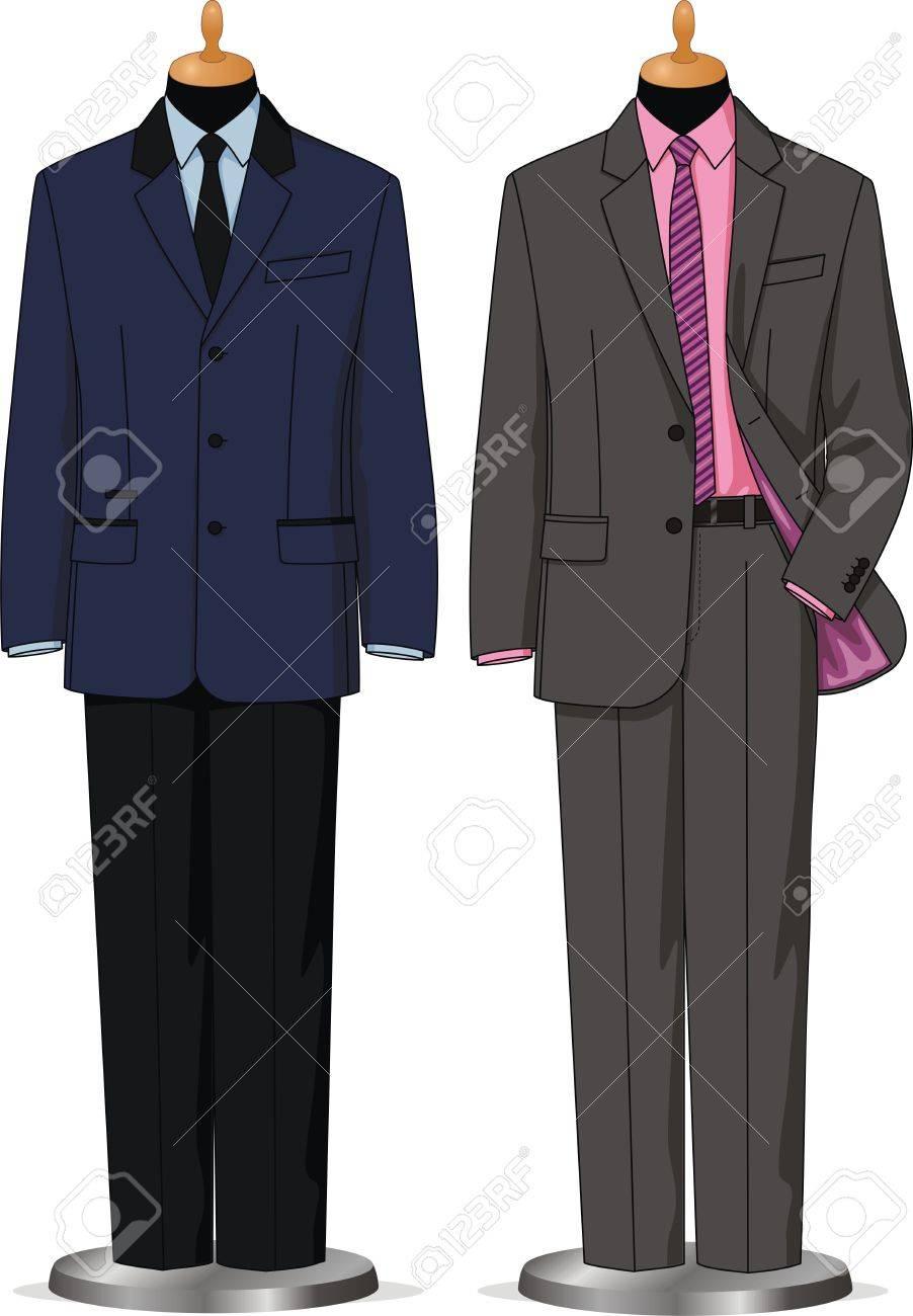 Dummies show a set of men business wear Stock Vector - 15774930