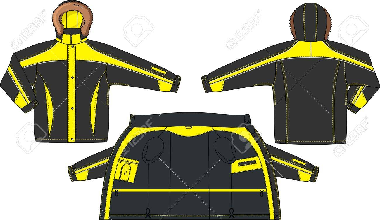 Jacket with a bright lining for sports Stock Vector - 17060406