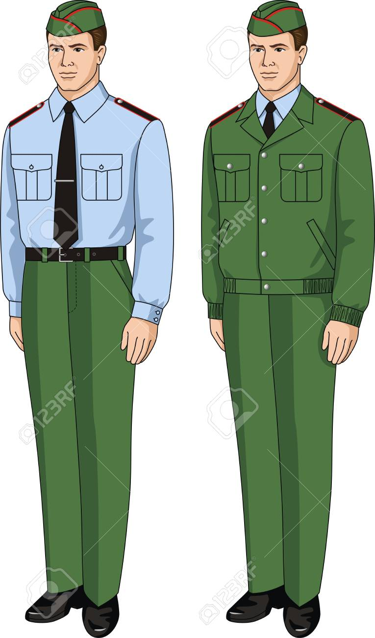 The suit special consists of a shirt, a jacket and trousers Stock Vector - 19489976