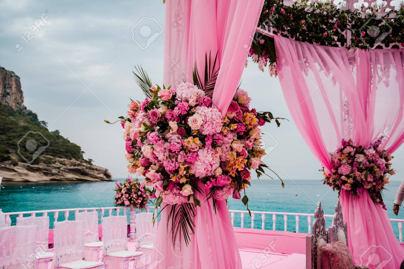 Elegant Flower Decoration For Celebration Wedding Event Or Stock Photo Picture And Royalty Free Image Image 137079271