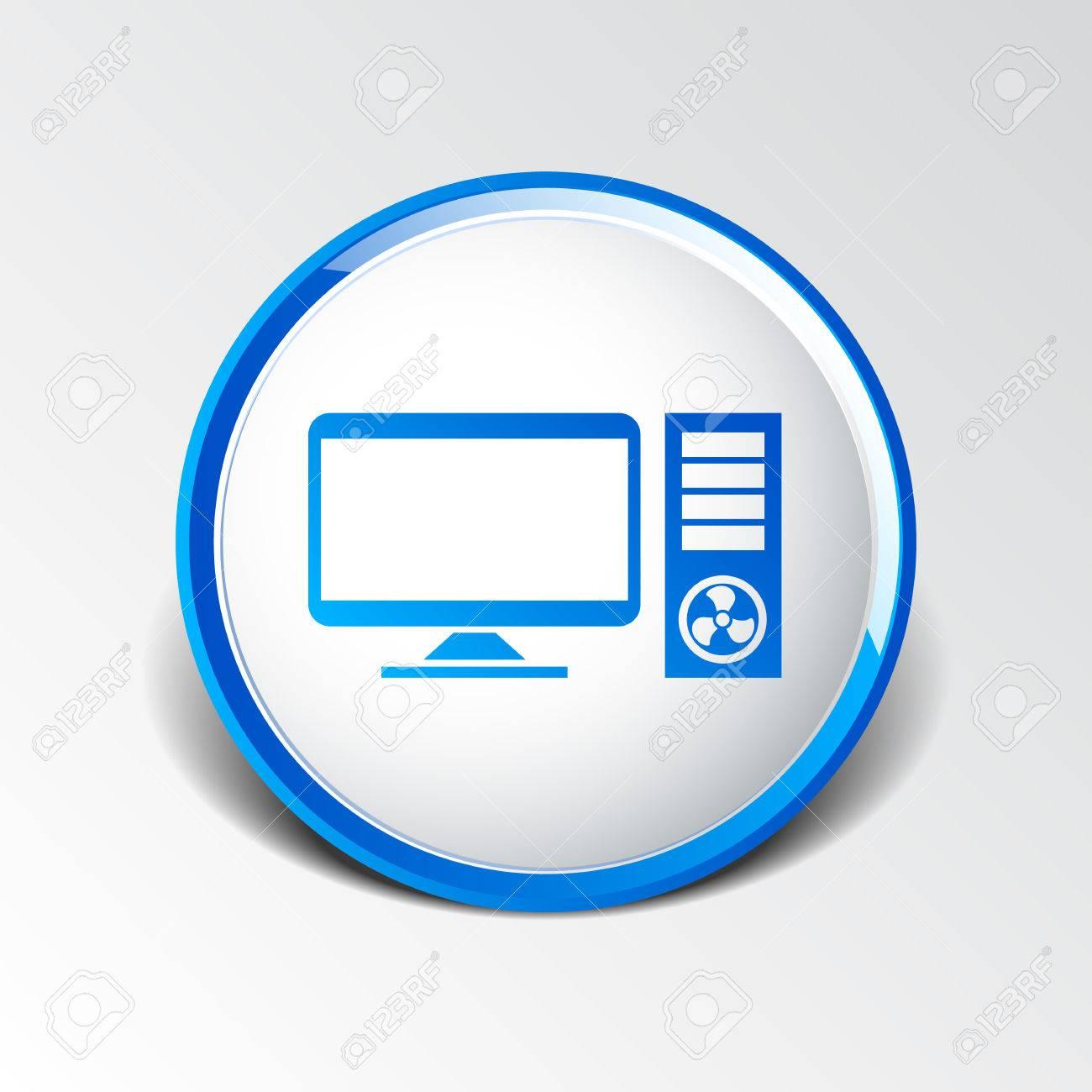 Vector Desktop Computer Icon Pc Symbol Laptop Royalty Free Cliparts