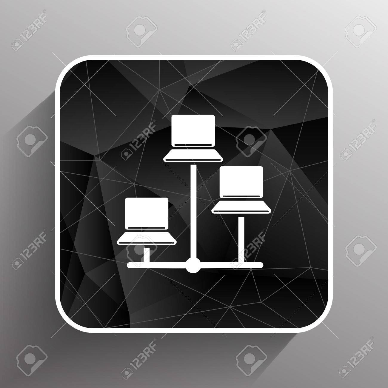 Network - Vector Icon Networking Wired Lan Web. Royalty Free ...