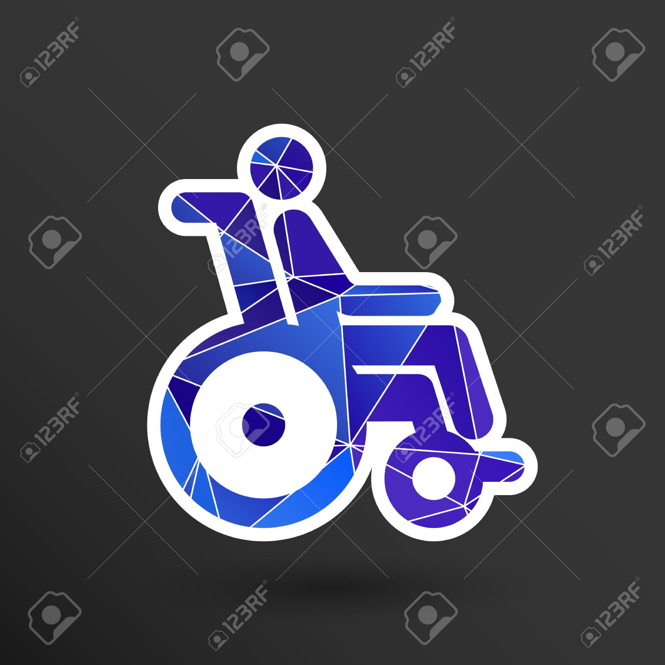 Handicap Handicapped Chair Wheel Accessible An Invalid Icon. Royalty ...