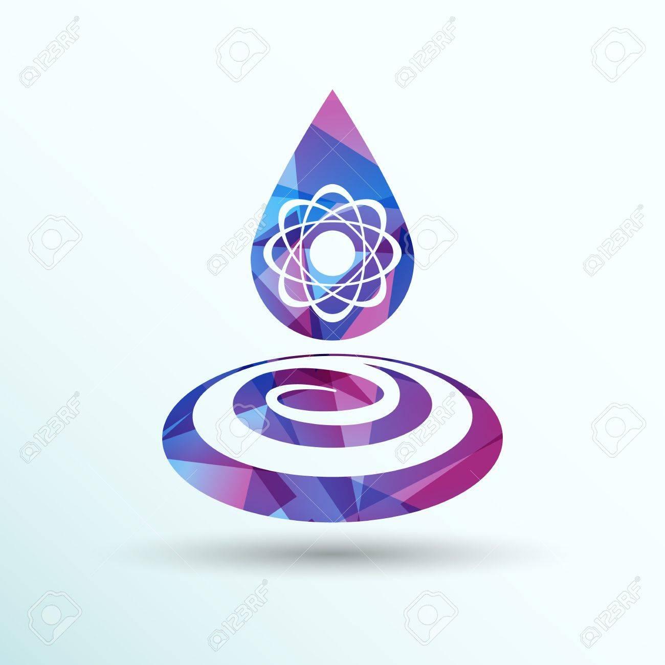 Chemical Icons Icon Drop Water Element Formula Symbol Atom Gene ...