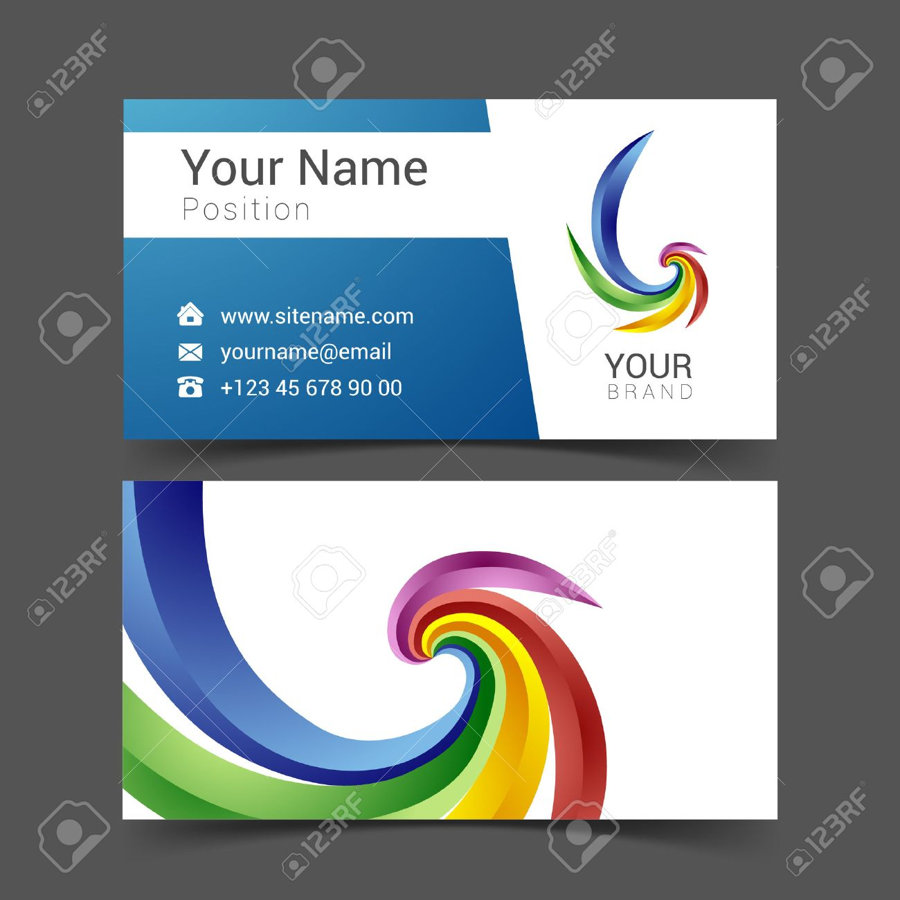 Business Card Creative Design Template Corporate Identity Logo ...