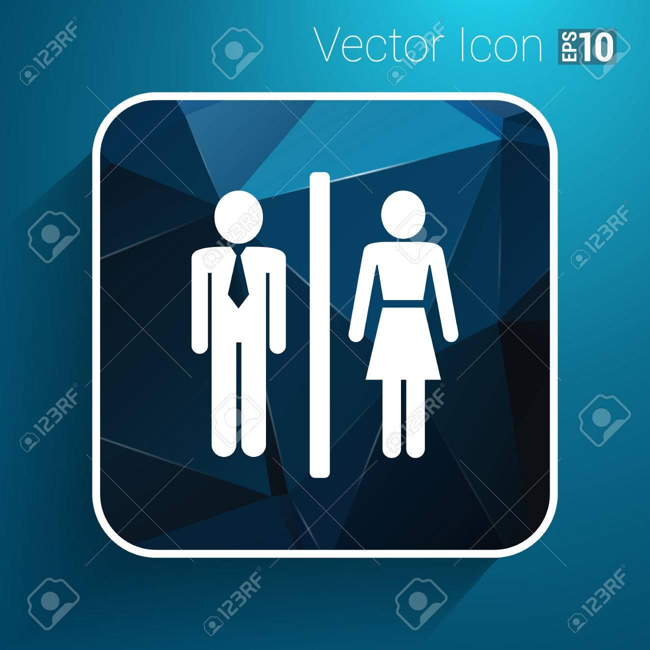 man woman restroom sign icon vector button logo symbol concept