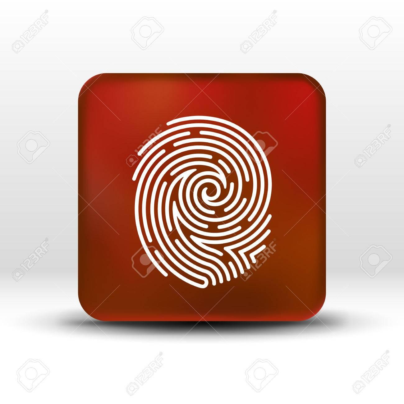 Fingerprint Icon Finger Print Vector Id Theft Macro Stamp Stock