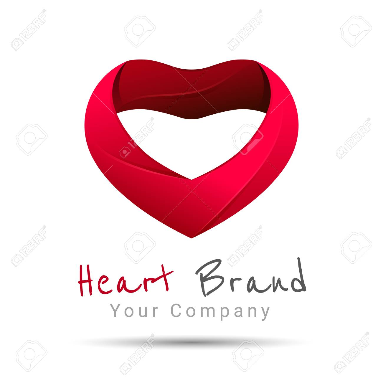 Heart Design Vector Template Happy Valentines Day Concept Love Royalty Free Cliparts Vectors And Stock Illustration Image 65445332